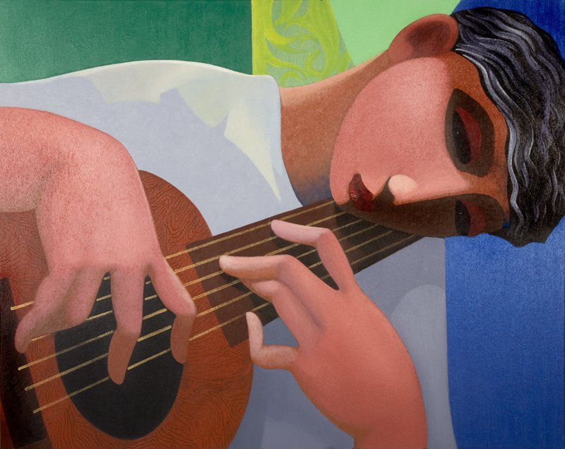 The Guitar Player by Paul Kerr