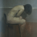 Nude On High Stool by Paul Kerr